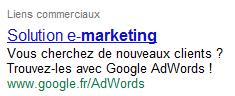 Adwords, la régie publicitaire de Google