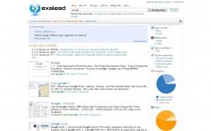 Exalead propose des statistiques qui ne sont pas disponibles sur Google