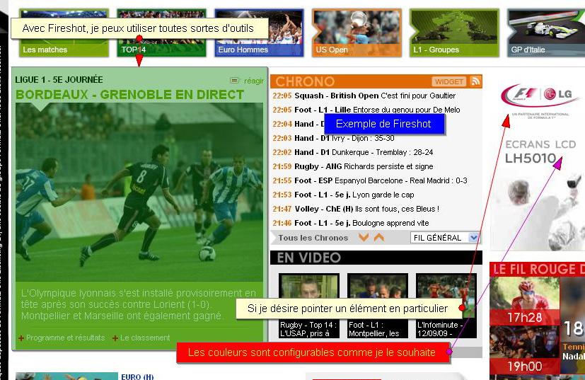 Fireshot permet de créer des présentations très pro directement à partir du module