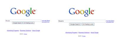 Comparaison barre de recherche Google
