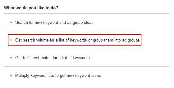 Keyword Planner de Google